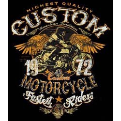 Bikers-Custom : Sweat zippé CUSTOM MOTORCYCLE