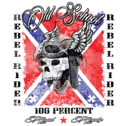 Bikers-Custom : Sweat zippé REBEL RIDER