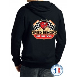 Bikers-Custom : Sweat capuche speed démon