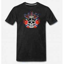 Bikers-Custom : T shirt rebel confédéré