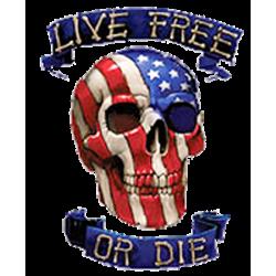 Sweat capuche zippé LIVE FREE OR DIE