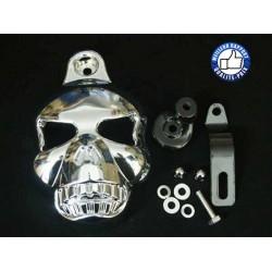 Caches klaxon skull pour Harley et custom.