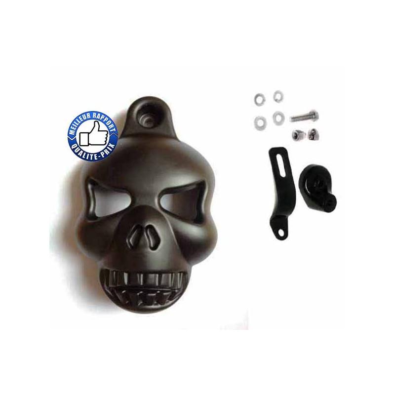 Bikers-Custom : Caches klaxon skull pour Harley et custom.