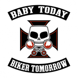 T Shirt enfant  baby today biker tomorrow