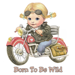 T Shirt enfant born to be wild girl