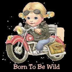 Body bébé BORN TO BE WILD GIRL