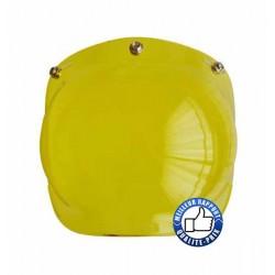 Visière bulle pour casque jet, couleur jaune