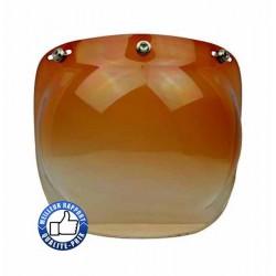 Visière bulle pour casque jet, couleur marron dégradé.