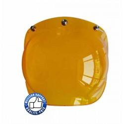 Visière bulle pour casque jet, couleur orangé