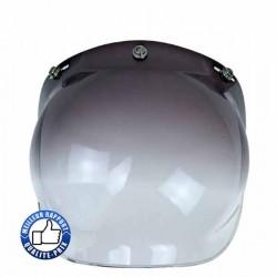 Visière bulle pour casque jet, couleur noir dégradé