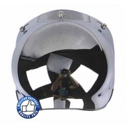 Visière bulle pour casque jet, couleur chrome