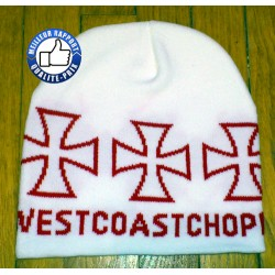 Bonnet west coast chopper blanc