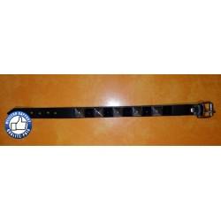 Bracelet biker avec clous noir et chrome