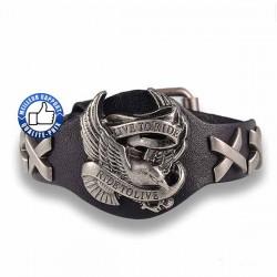 Bracelet cuir live to ride