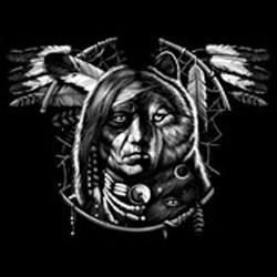 Bikers-Custom : T shirt biker wolf spirit