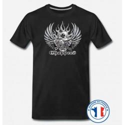 Bikers-Custom : T shirt biker german helmet
