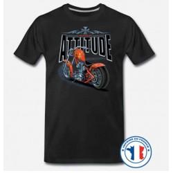 Bikers-Custom : T shirt biker attitude