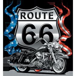 Bikers-Custom : T shirt biker road 66