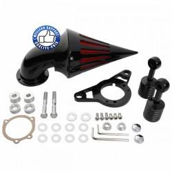Bikers-Custom : Filtre à air spike noir ou chrome pour injection EFI