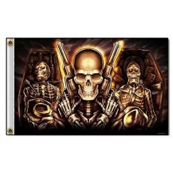 Drapeau biker caskets
