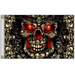 Drapeau biker master skull