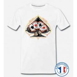 Bikers-Custom : T shirt biker as de pique