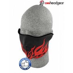 Cache nez ou face mask flammes rouge