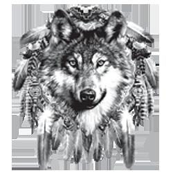 Bikers-Custom : T shirt biker wolf