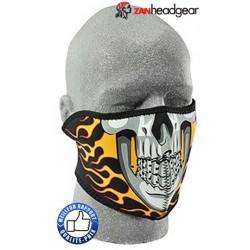Cache nez ou face mask flammes skull