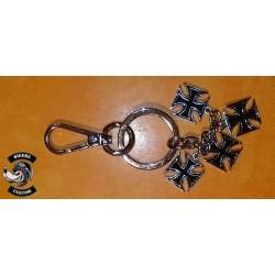 Porte clés 4 croix de malte