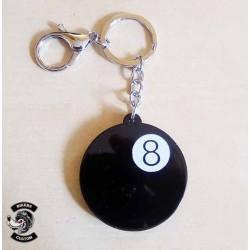 Porte clés boule 8 médaillon