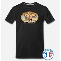 Bikers-Custom : T shirt biker dad's garage