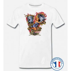 Bikers-Custom : T shirt biker ride legend