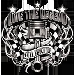 Bikers-Custom : T shirt biker live the legend
