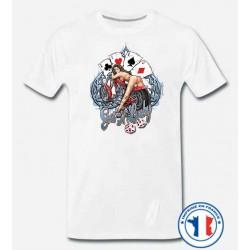 Bikers-Custom : T shirt biker get lucky