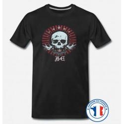 Bikers-Custom : T shirt biker A.E skull
