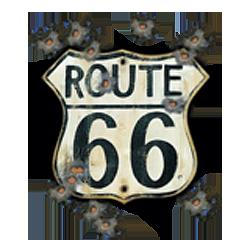 Bikers-Custom : T shirt biker old road 66