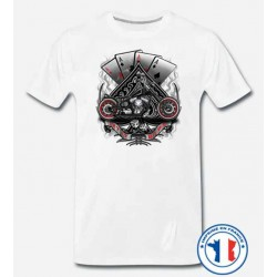 Bikers-Custom : T shirt biker let it ride