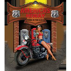 Bikers-Custom : T shirt biker american hiway saloon