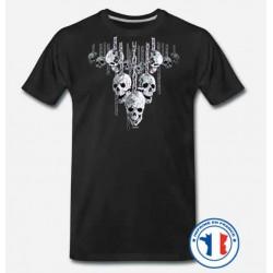 Bikers-Custom : T shirt biker skull in chain