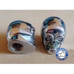 Bouchons de valves skull silver eyes