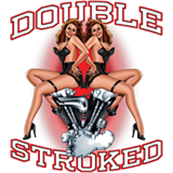 Bikers-Custom : T shirt biker double stroked