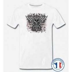 Bikers-Custom : T shirt biker devil cross