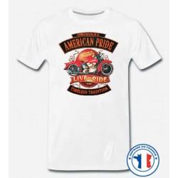 Bikers-Custom : T shirt biker american pride
