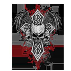 Bikers-Custom : T shirt biker cross and skulls