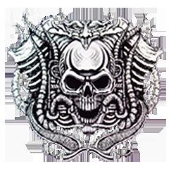 Bikers-Custom : T shirt biker skull motorcycle