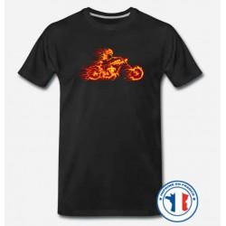 Bikers-Custom : T shirt biker the ghost rider