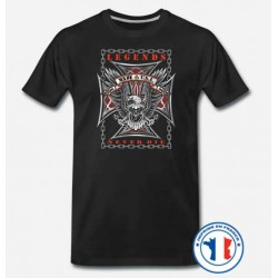 Bikers-Custom : T shirt biker legend neverdie