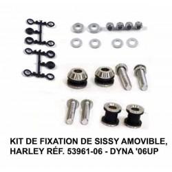 Kit de fixation pour sissy bar amovible Harley dyna 2006 up