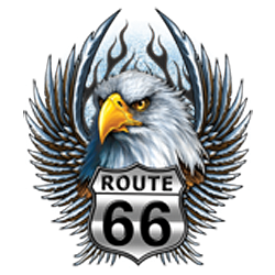 Bikers-Custom : T shirt biker road 66 eagle